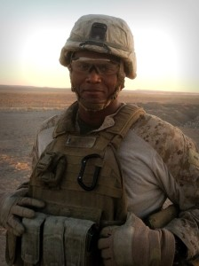Joe Tate during his 2011-12 deployment in Helmand Province, Afghanistan